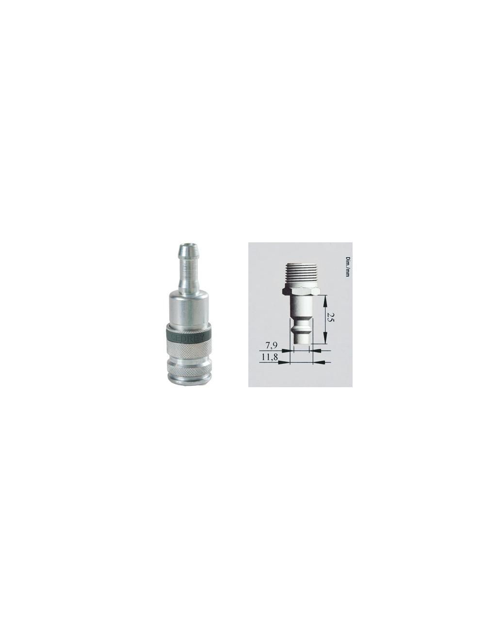 Coupleur rapide cannelé pour tuyau Ø10 mm