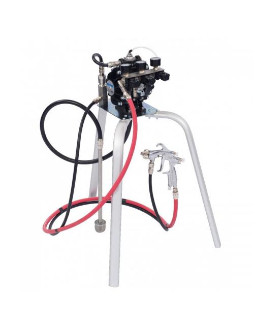 Binks DX70 Pompe sur trépied 3 régulateurs et filtres (2 sorties )