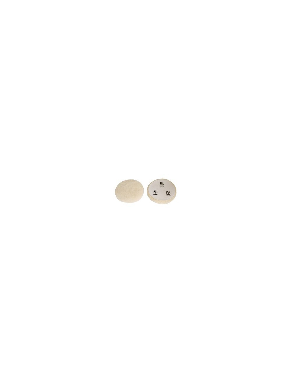 Peau de mouton naturelle D.150 MM (le lot de 2)