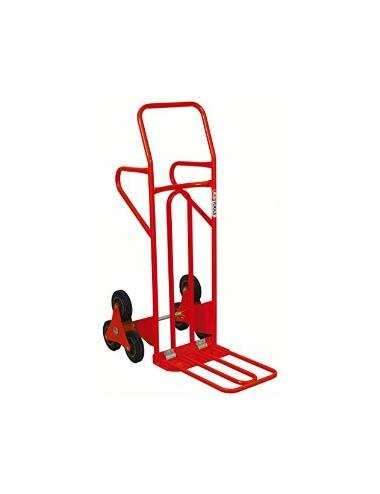 Diable spécial escalier avec bavette repliable - roues pleines