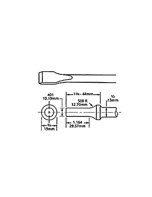 BURIN PLAT EM. ROND 10.2mm